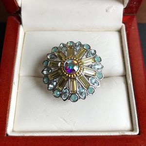 Swarovski crystal ring size 8